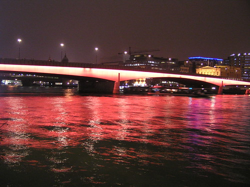 Thames in  red light | by deepti M