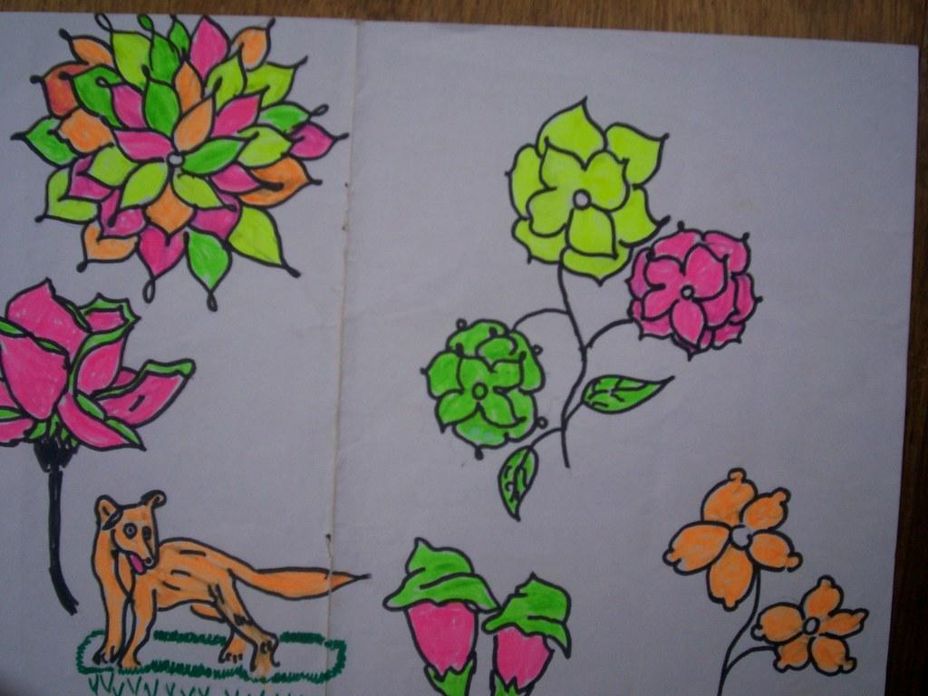 fleurs symbole d 39 amour dessin des l ves de l 39 cole lamar flickr. Black Bedroom Furniture Sets. Home Design Ideas
