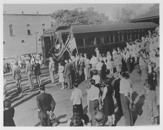 Clemson station – F. D. R. funeral train | by Pickens County Library System