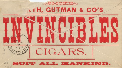 All-Over Advertisement Envelope for Cigars