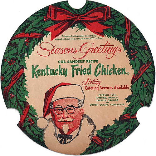Kentucky Fried Chicken Christmas Bucket Lid | 1966 | Todd Franklin ...