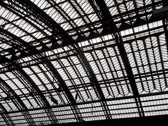 Dach des Kölner Hauptbahnhofs - Detail