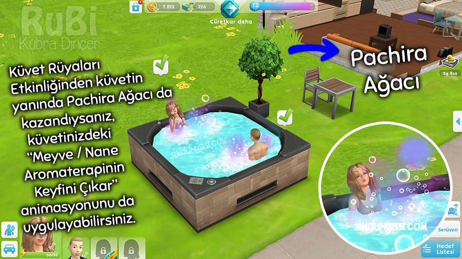The Sims Mobile Hot Tub Dreams Küvet Rüyaları Etkinliği