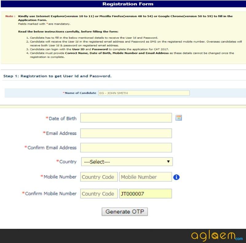 CAT Exam Registration