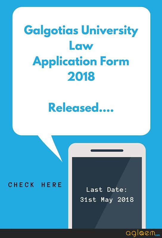 Galgotias University Law Application Form 2018