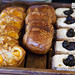 Individual sized apricot danishes, chocolate croissants and blackberry pastries