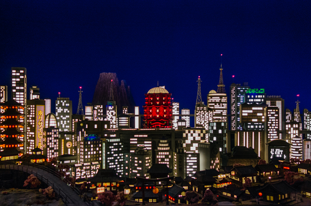isle of dogs exhibition - megasaki city skyline
