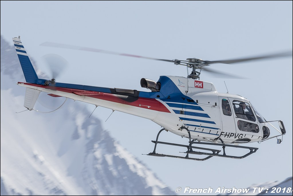 Aérospatiale AS-350 B3 Ecureuil - F-HPVG , SAF hélicopter , Fly Courchevel 2018 - Altiport Courchevel , Meeting Aerien 2018