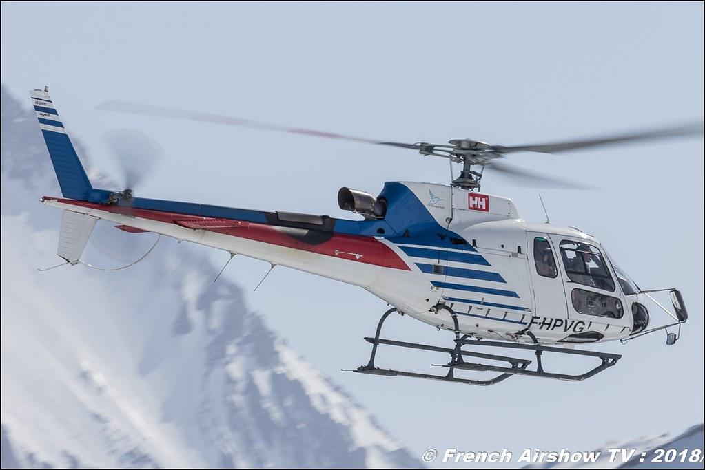 Aérospatiale AS-350 B3 Ecureuil - F-HPVG , SAF hélicopter , Fly Courchevel 2018 - Altiport Courchevel , Meeting Aerien 2018