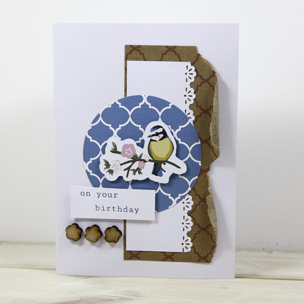 Pretty spring crafts - clean and simple Bird Garden card