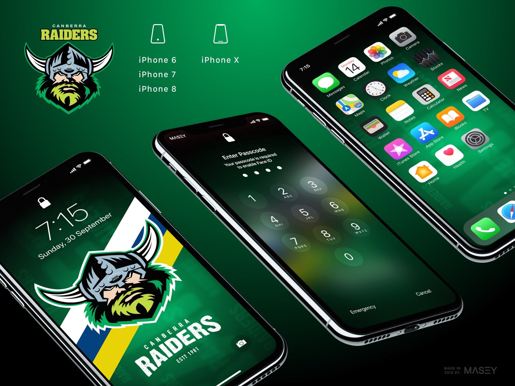 Canberra Raiders iPhone Wallpaper