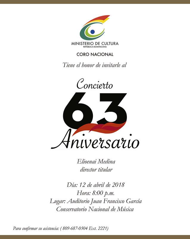 Coro Nacional, Aniversario 63
