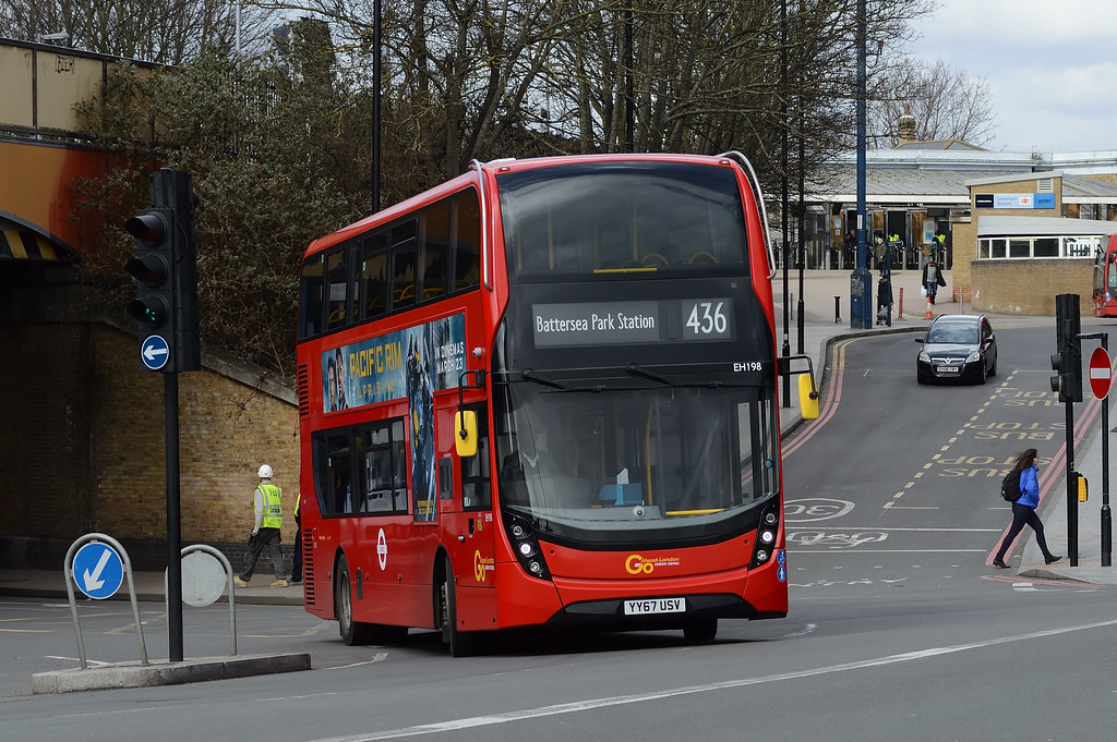 436 Bus Route >> Go Ahead London Central Eh198 Yy67usv On Route 436 Flickr