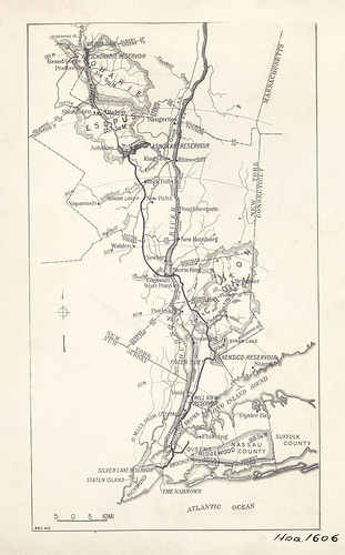 Map Of New York City Water Supply System  October 1917