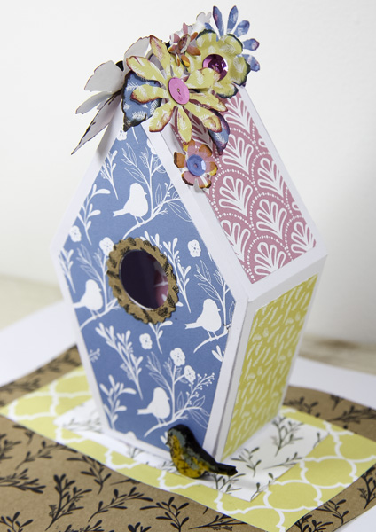 Pretty spring crafts - birdhouse