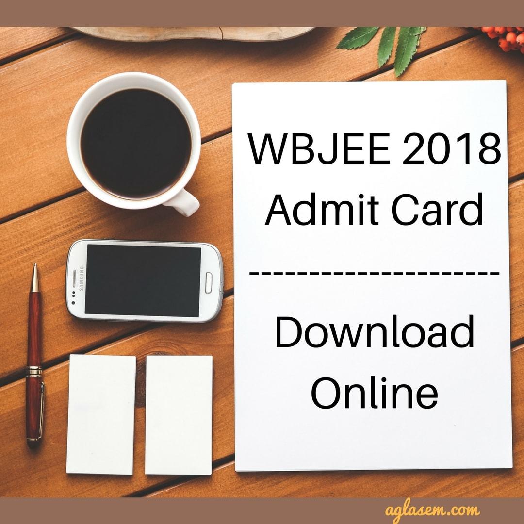 WBJEE 2018 Admit Card