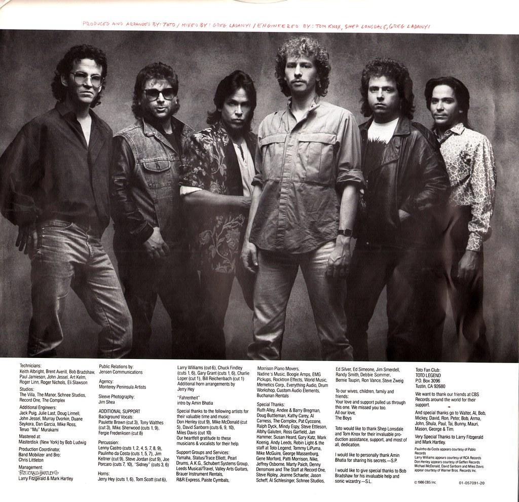 6 - Toto - Fahrenheit - NL - 1986- | Klaus Hiltscher | Flickr