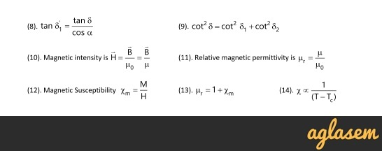 Important Notes of Physics for NEET, JEE: Magnetism and Matter