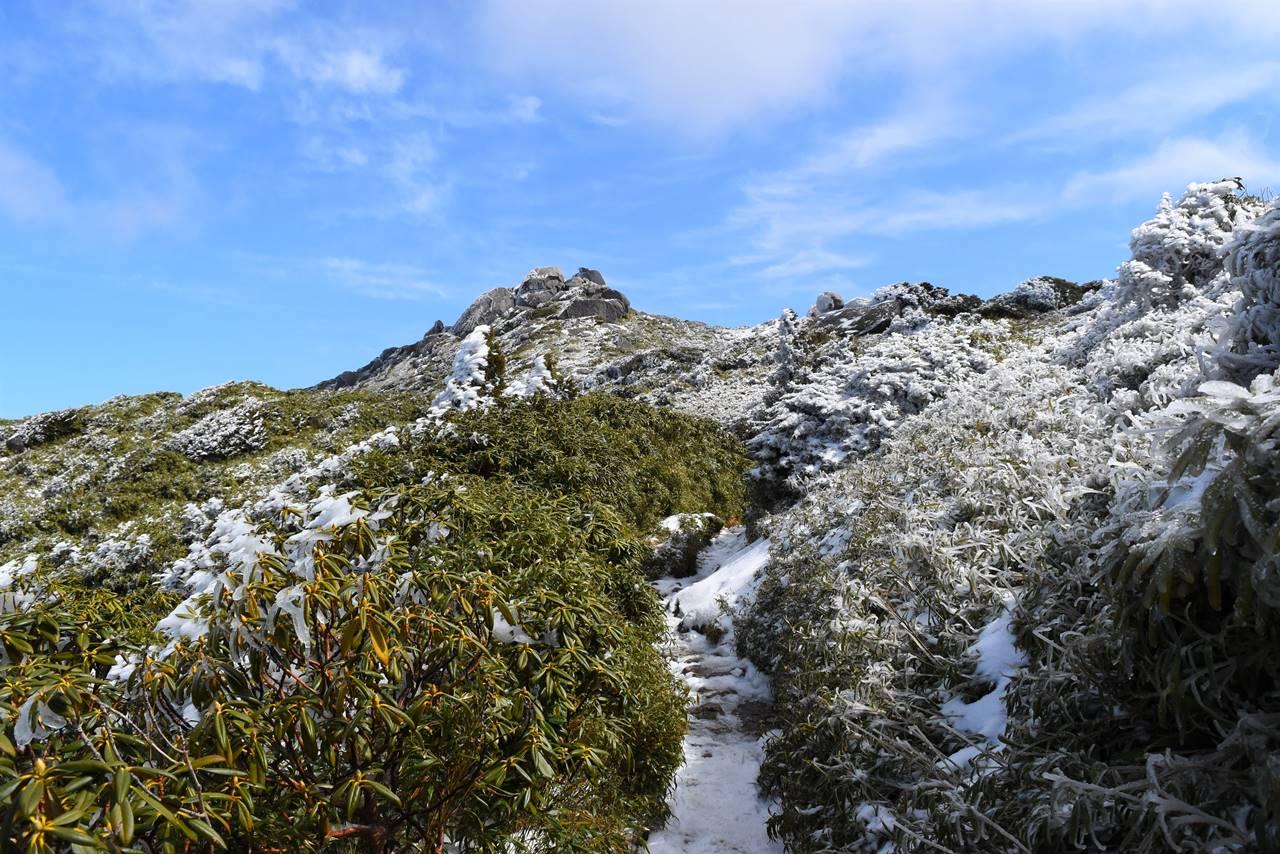 宮之浦岳 雪山登山