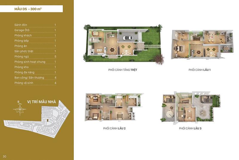 Mẫu thiết kế D5 biệt thự đơn lập Villa Park