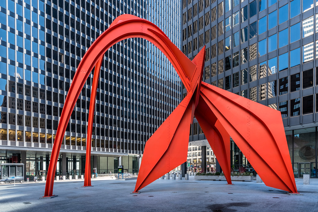 Calder's Flamingo | Flamingo, created by noted American ...
