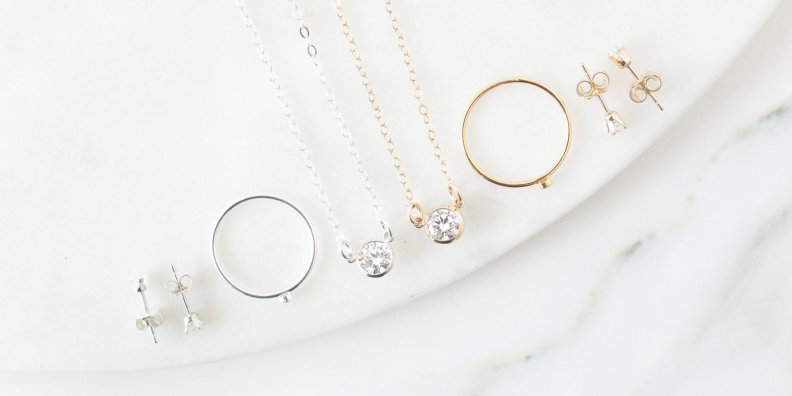 Minimal Diamond Jewellery Handmade UK