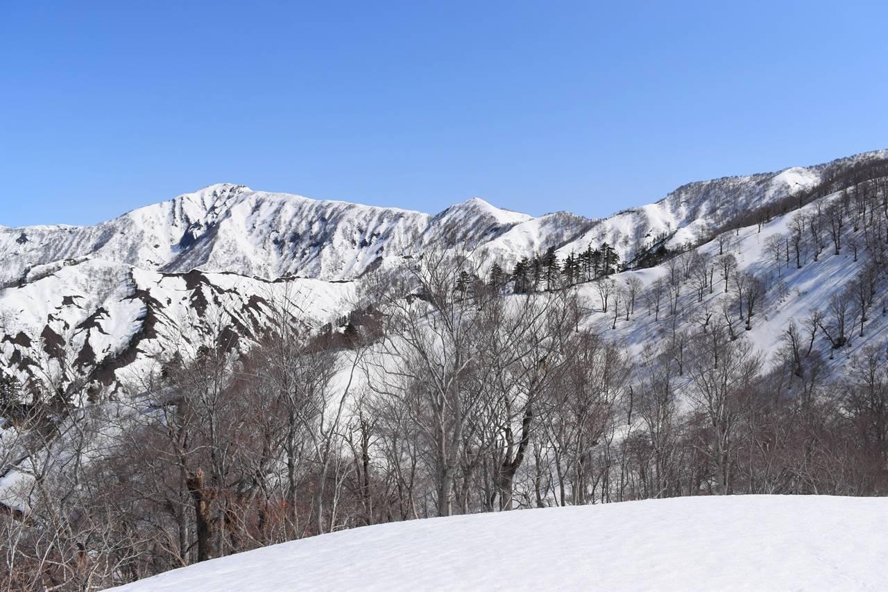 日向倉山~未丈ヶ岳の稜線