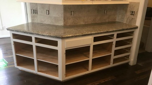 White Concrete Kitchen Countertops And Islands