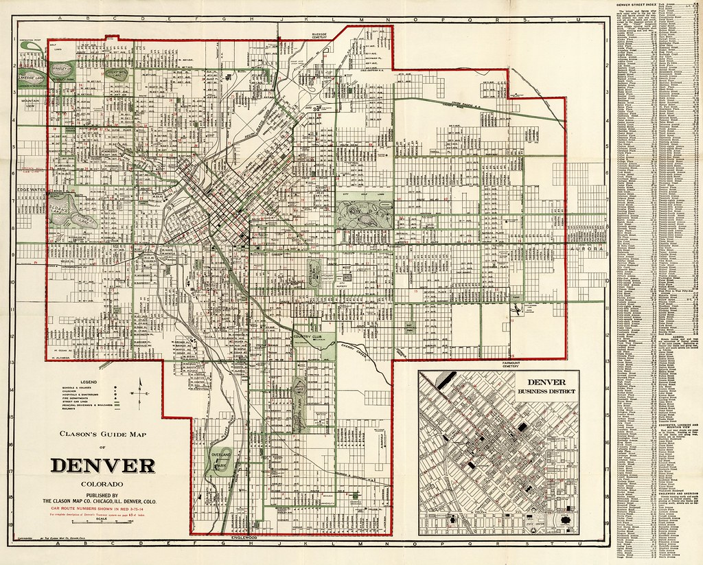 Denver Street Map, 1920   Published by the Clason Map Compan…   Flickr