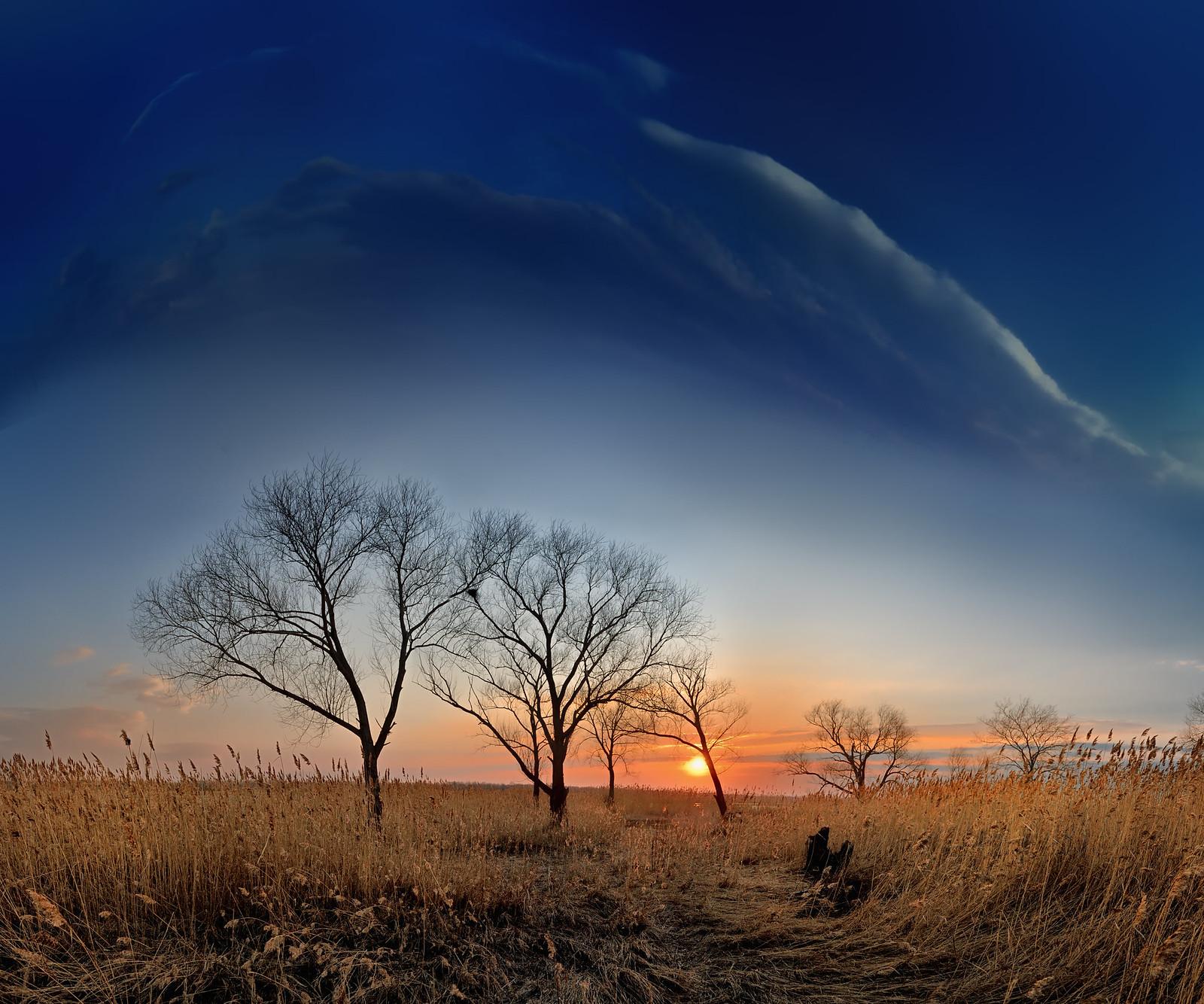 Апрельский закат в средней полосе России - фотограф Челябинск
