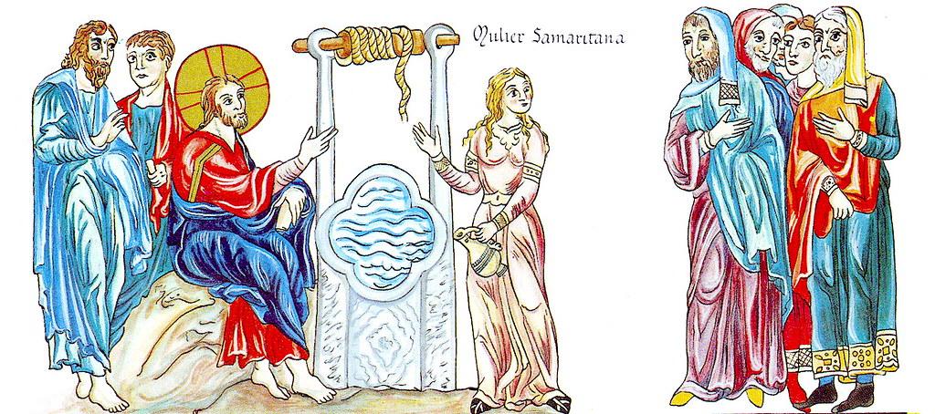 Иисус Христос и самарянка у колодца Иакова.
