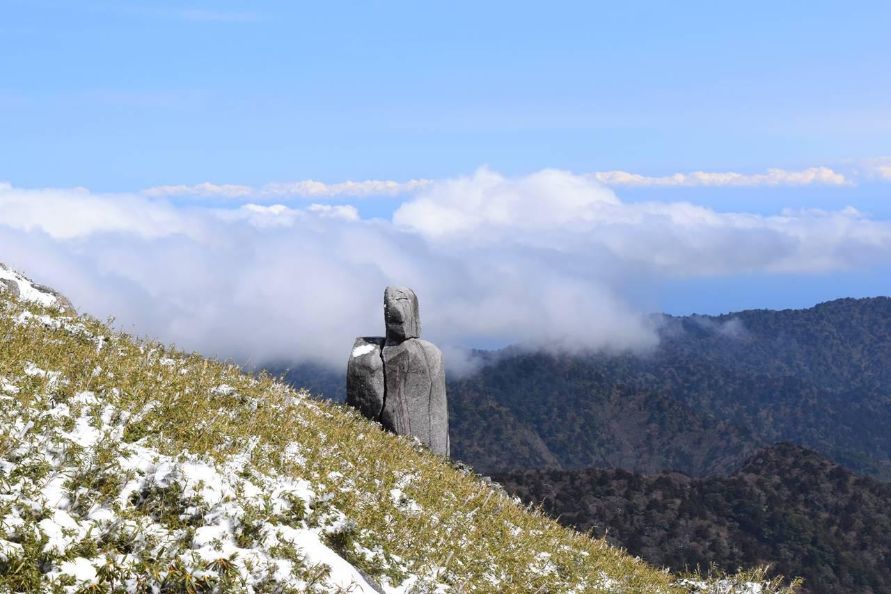 宮之浦岳 人型の岩
