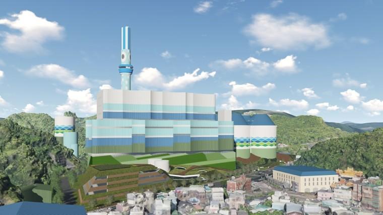 深澳更新計畫完工示意圖。來源:台電。
