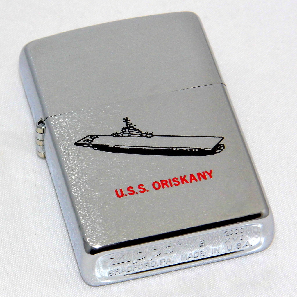 zippo lighter collection 50th anniversary of commissioning of the uss oriskany september 25