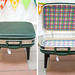 Suitcase Footstool Table Open & Closed