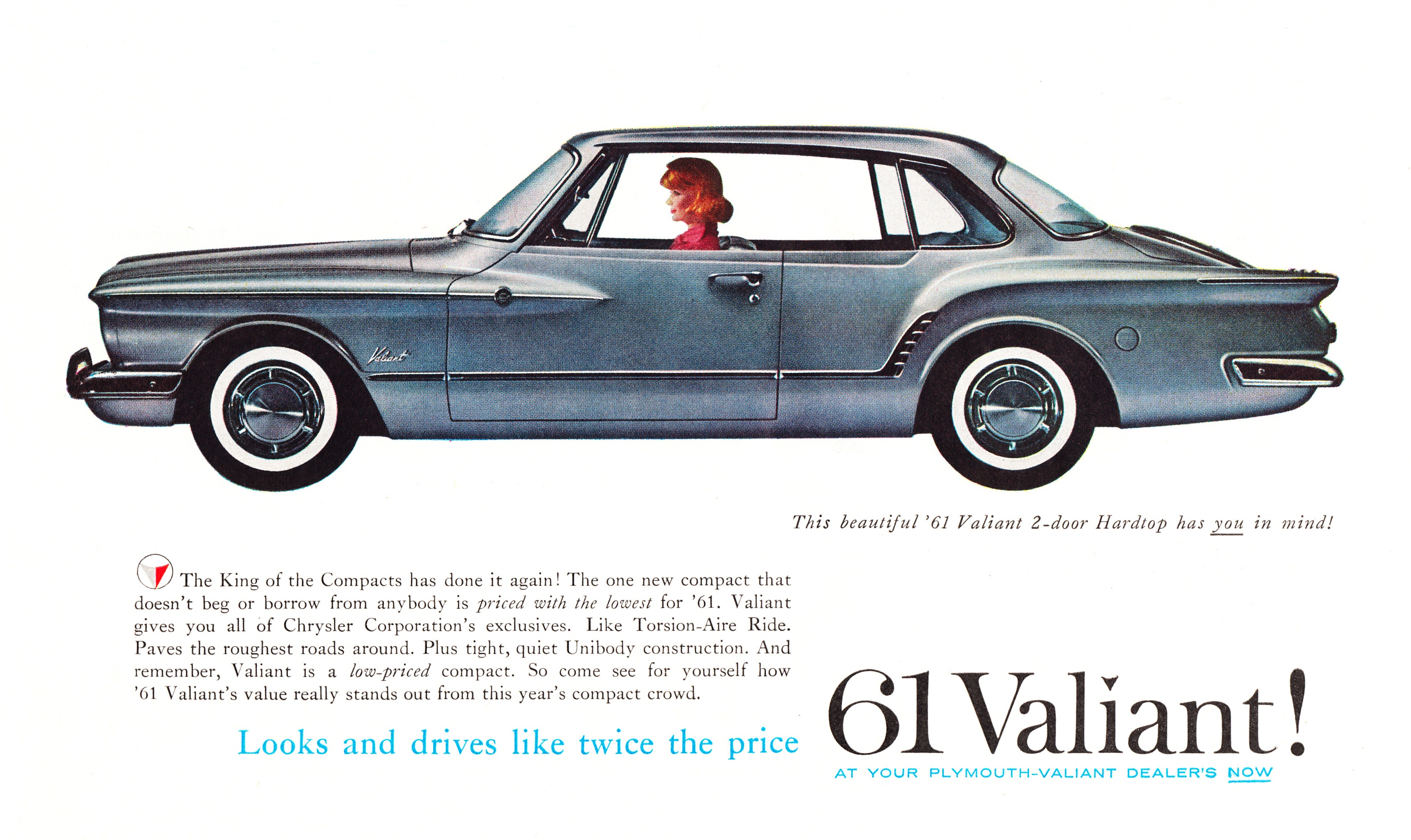 1961 Plymouth Valiant 2-Door Hardtop -  published in The Saturday Evening Post - October 1, 1960