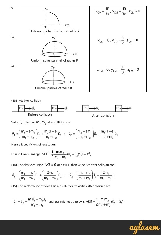Important Notes of Physics for NEET, JEE: System of Particles and Rotational Motion