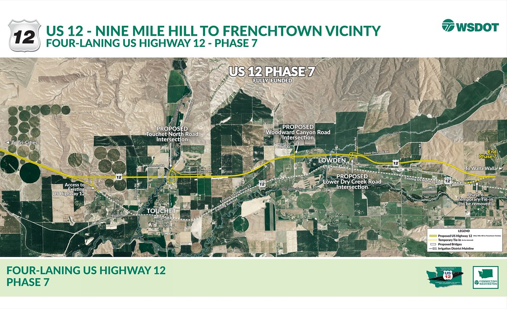 us highway 12 phase 7 corridor map by wsdot