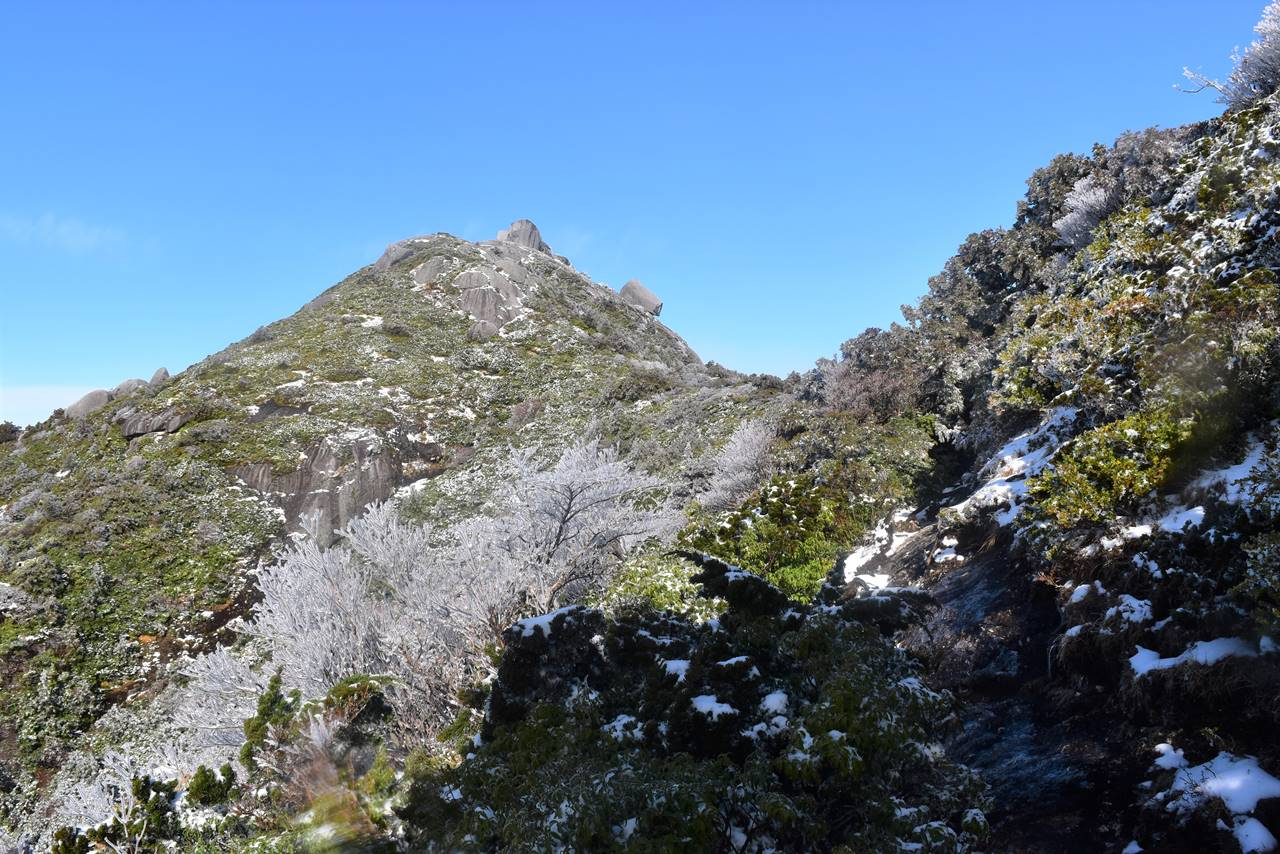 雪の黒味岳登山