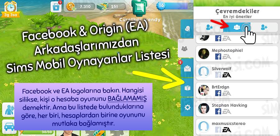 The Sims Mobile, Arkadaş Kodu Ekleme, Arkadaş Olma, Twitter Facebook EA Origin Arkadaşlığı