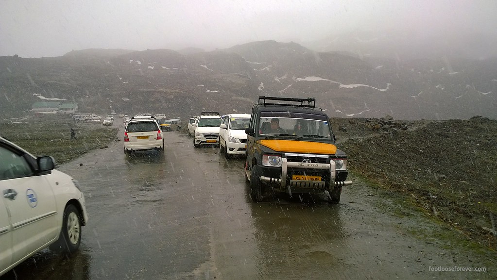rain, sikkim, nathula