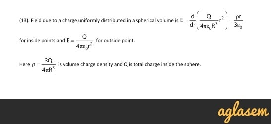 Important Notes of Physics for NEET, JEE: Electric Charges and Fields