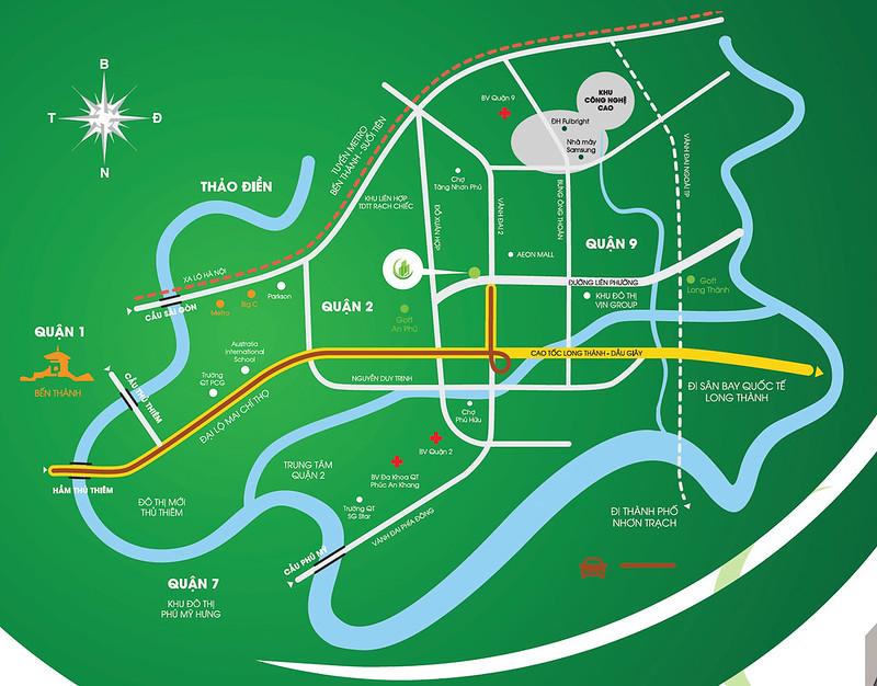 bản đồ đến căn hộ Thủ Thêm Garden quận 9