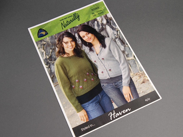 Naturally Yarns N1069 Women's Sweater and Cardigan Vintage Knitting Pattern Leaflet
