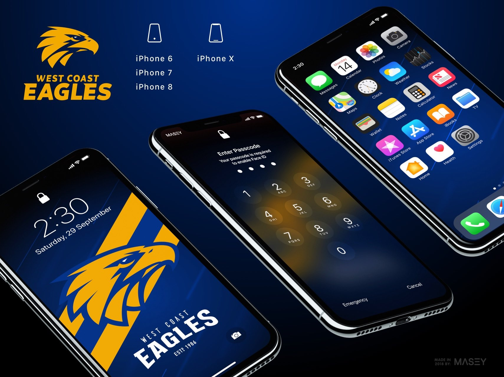 West Coast Eagles iPhone Wallpaper