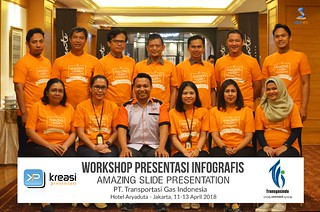 "Workshop Infografis ""Amazing Slide Presentation"" PT Transportasi Gas Indonesia Batch-2 bersama Pakar Slide Dhony Firmansyah 