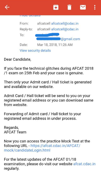 AFCAT Admit Card 2018 for Supplementary Exam – Download AFCAT 01/2018 Admit Card via Login