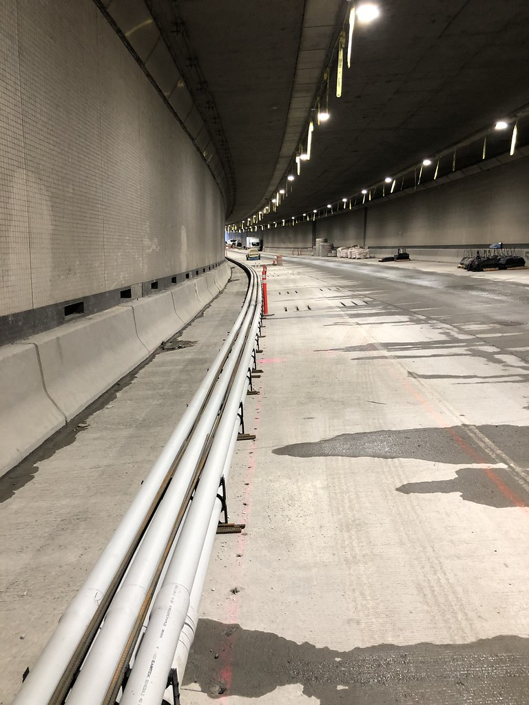 Mercer island i 90 tunnel construction surface mounted for I 90 construction