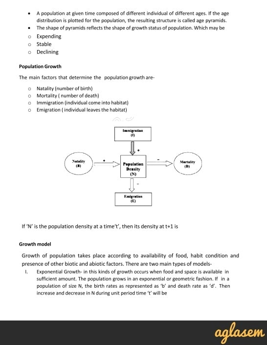 Important Notes of Biology for NEET: Organisms and Populations