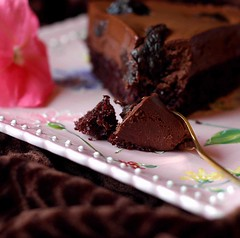 Velvet Chocolate Cake with Prunes Soaked in Earl Grey Tea | by Vita Arina